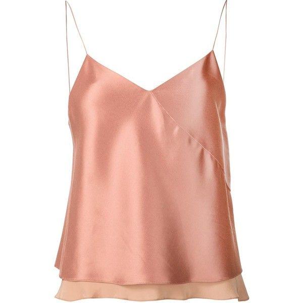 Edun twill satin bias camisole found on Polyvore featuring intimates, camis, tops, satin cami, pink cami, pink camisole, edun and satin camisole