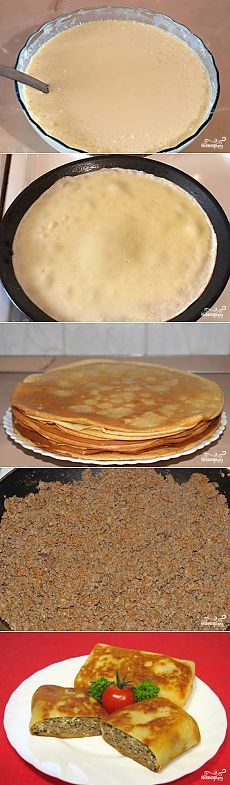 Блинчики, фаршированные печенью - пошаговый кулинарный рецепт на Повар.ру