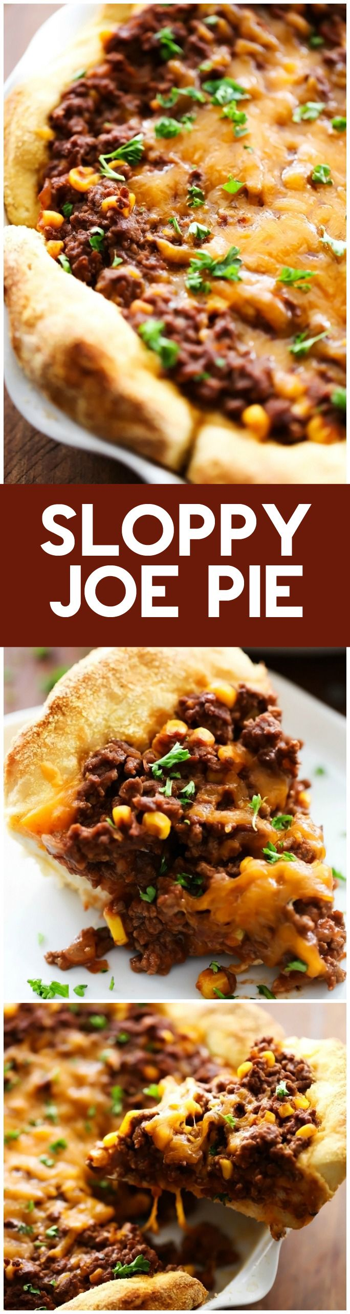 Sloppy Joe Pie - Everything you love about sloppy joes baked into a delicious pie that is packed with flavor and super simple to make! This will quickly become a new family favorite!