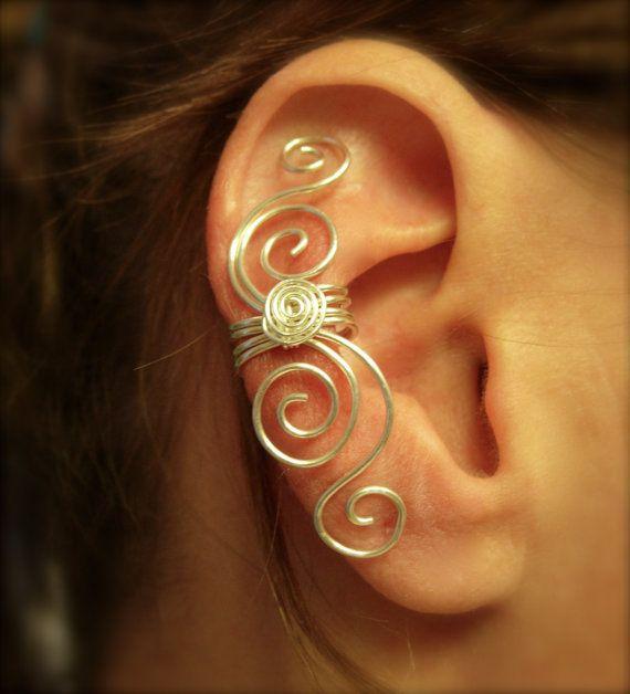 Fine Silver Multi Swirl Ear Cuff    Earcuff Now in .999 Fine Silver Non Tarnish
