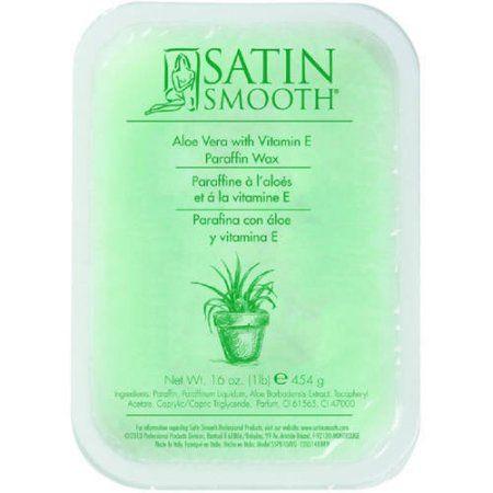 Satin Smooth Aloe Vera Paraffin Wax with Vitamin E, 16 oz