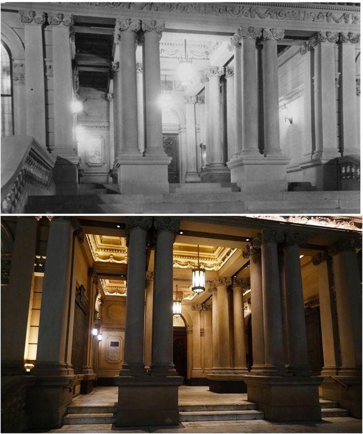 Sydney Town Hall entrance after the port - cochere was removed 1934 > 2016. [City of Sydney Archives > Kevin Sundgren. By Kevin Sundgren]