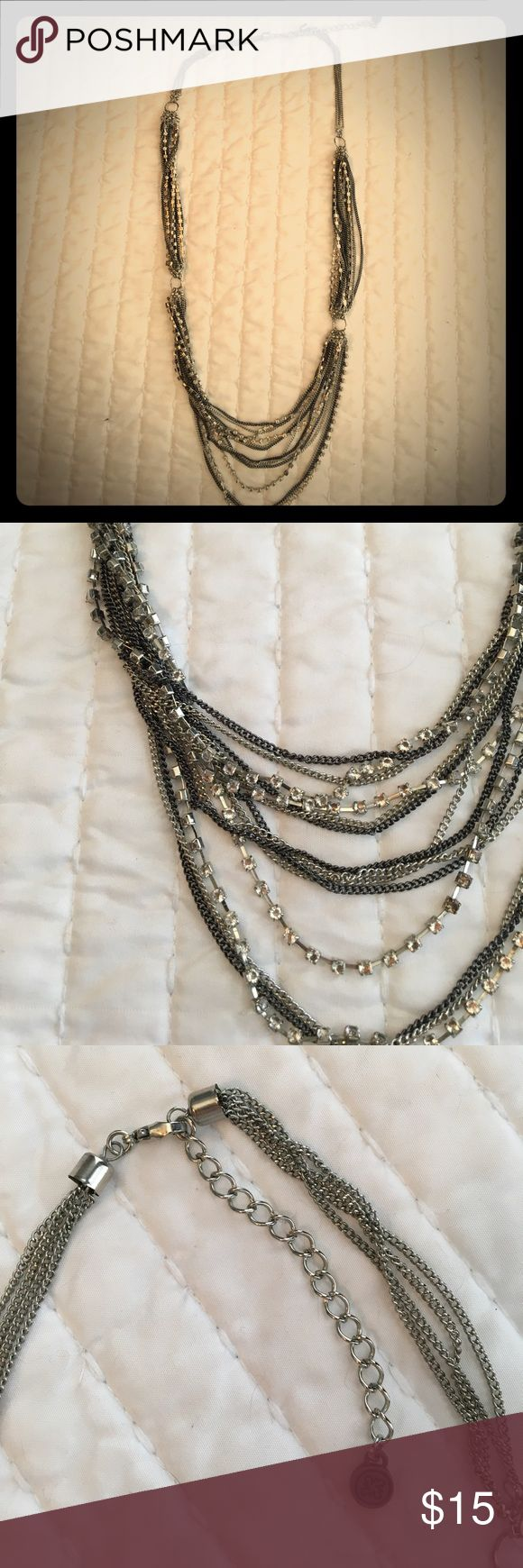"Simply Vera Vera Wang Necklace Adjustable Simply Vera Vera Wang Necklace. Silver, gunmetal, and CZ. Length varies from 32""-35"". GREAT CONDITION. Simply Vera Vera Wang Jewelry Necklaces"