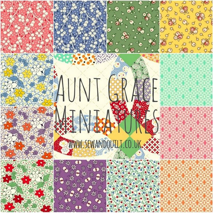 Aunt grace miniatures for marcus brothers will be for Sewing material for sale