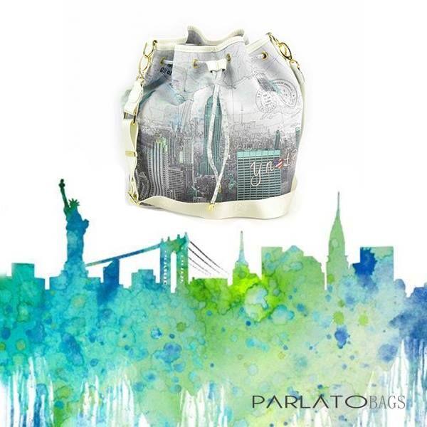 Il must have di questa primavara/ estate 2016? La borsa a secchiello! Come questa NY city style!!! Scoprite i vari modelli Y-not? su http://www.parlatobags.it/it/20-borse-y-not