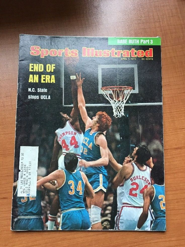 SPORTS ILLUSTRATED April 1 1974  UCLA BILL WALTON
