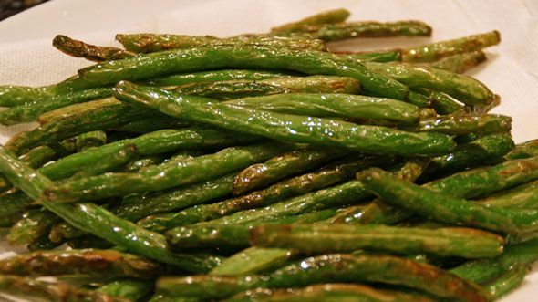 Dry sauteed green beans