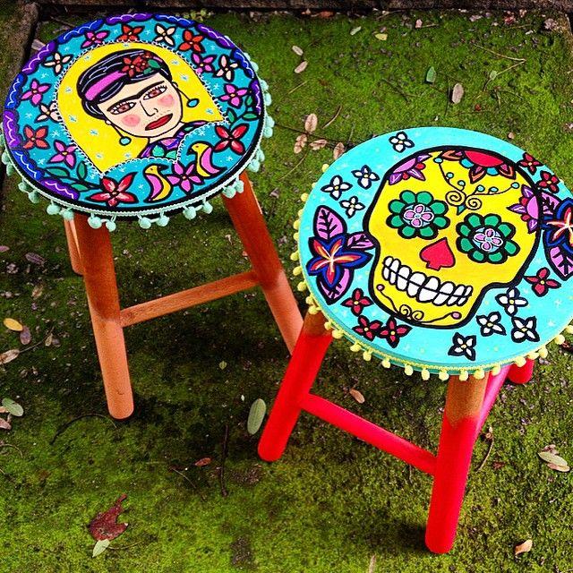 Instagram media atelie ju amora - Baquetas pintadas Frida Kahlo e Caveira Mexicana