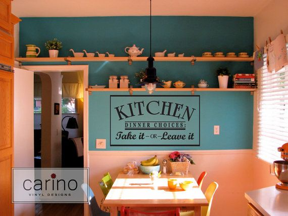 Kitchen Dinner Choices.....vinyl wall by CarinoVinylDesigns