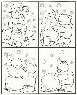 Posloupnost - sněhulák