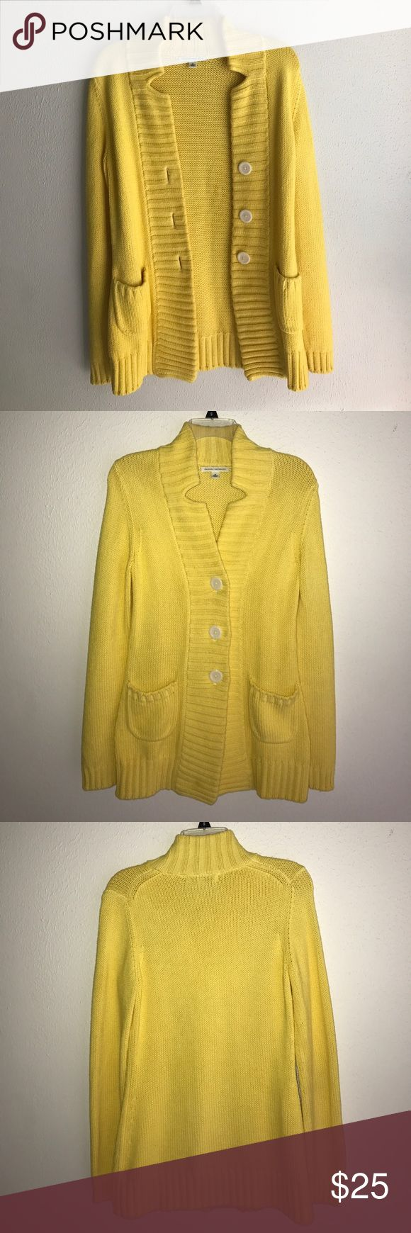 LAST CHANCE 🍉sale this weekend only🍉 Unique, chic, and soft yellow sweater. The sweater was originally white but was dyed yellow a few years ago for a costume. 🌻price goes back up Monday morning!🌻 Banana Republic Sweaters