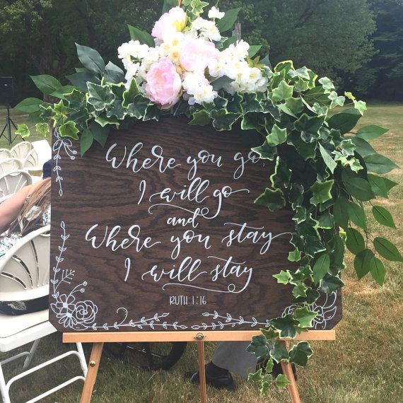 Wooden Wedding Sign . Hand lettered . Rustic Wedding . Welcome Sign . Wedding Ceremony Sign . Wooden Sign . Love quote sign
