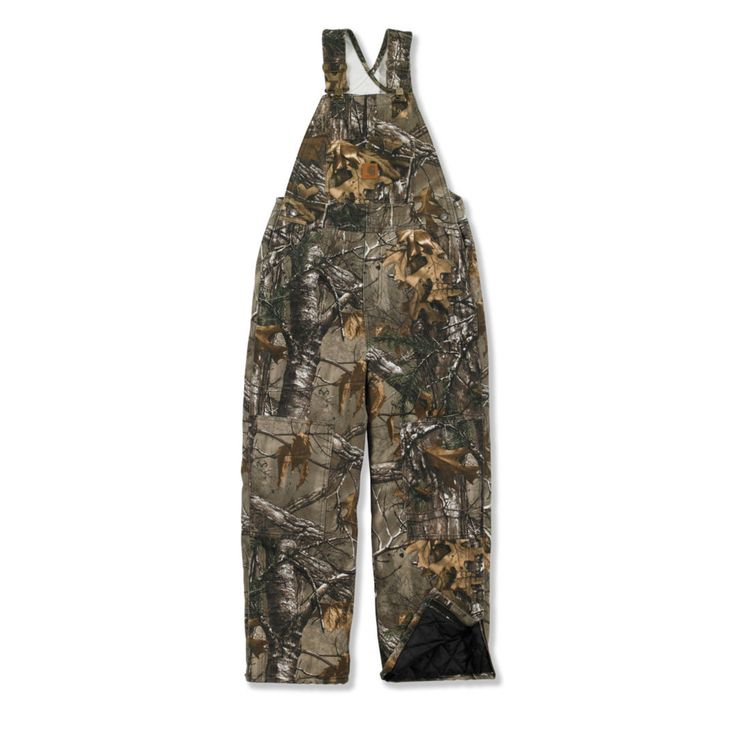 Boys' Carhartt Camo Bib Overall - Quilt Lined - The Brown Duck