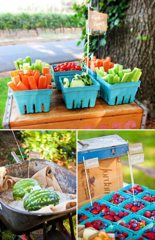 Backyard Idea Birthday Party Farmers Market Inspired