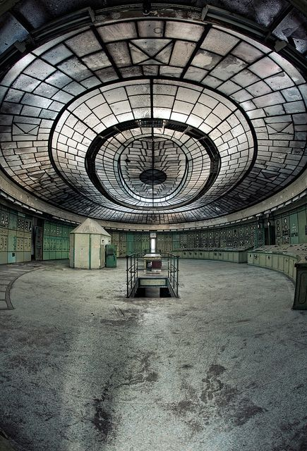Budapest  The amazing control room in an abandoned power plant.  by [AndreasS]…