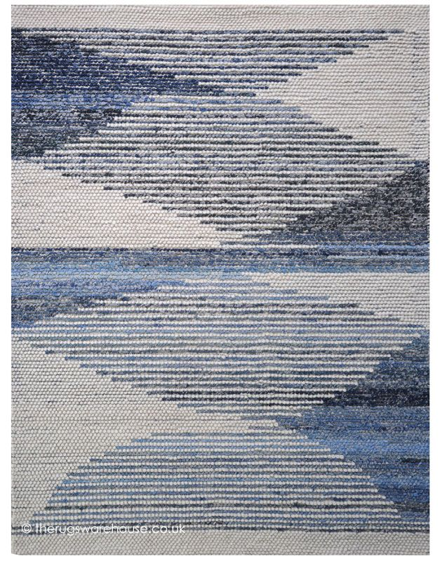 Alcott Rug A Hand Woven Denim Wool Modern In Shades Of Ivory