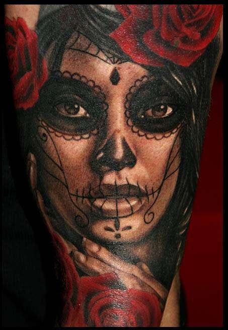 la catrina tattoos   la Catrina...half sleeve + cover up in progress