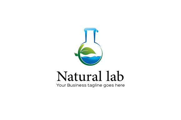 Natural lab Logo Template by Mudassir101 on @creativemarket