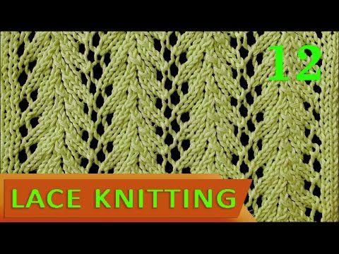 Vine | Lace Knitting Stitch #12 - Easy - YouTube