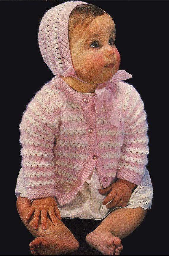 Vintage PDF Baby Knitting Pattern