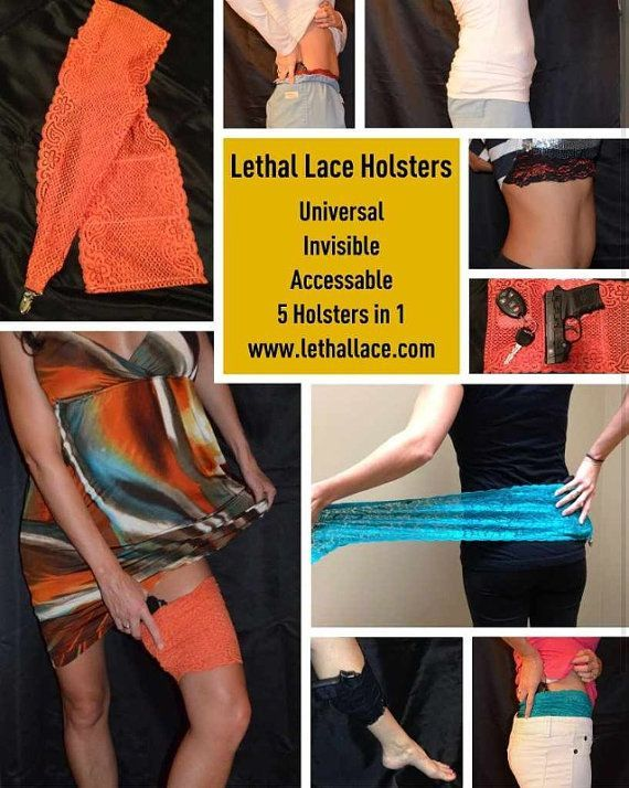 conceled gun on woman   Lethal Lace Universal Concealed Carry Gun Holster for Women