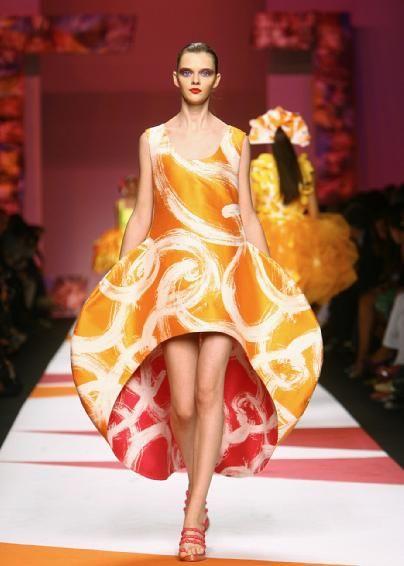 Orange and red dress. el blog de Sandy: La reina del color (en moda) es Agatha Ruiz de la Prada - The Queen of Colour (in fashion) is Agatha.Ruiz.de.la.Prada
