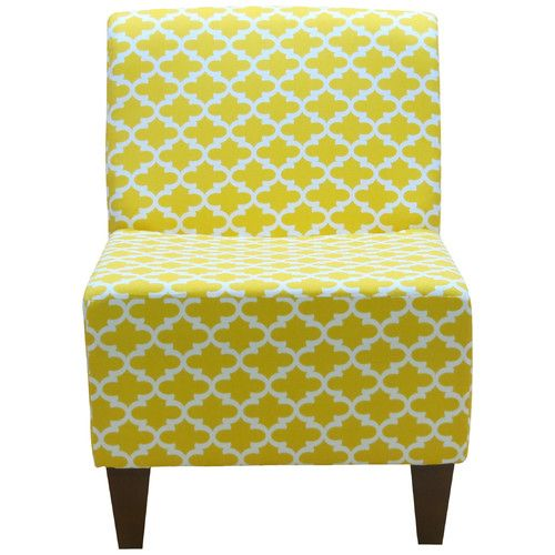 Found it at Wayfair - Penelope Armless Fulton Corn Yellow Slipper Chair