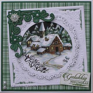 De Lage Hoeve: Kerstkaart met borduurwerkje
