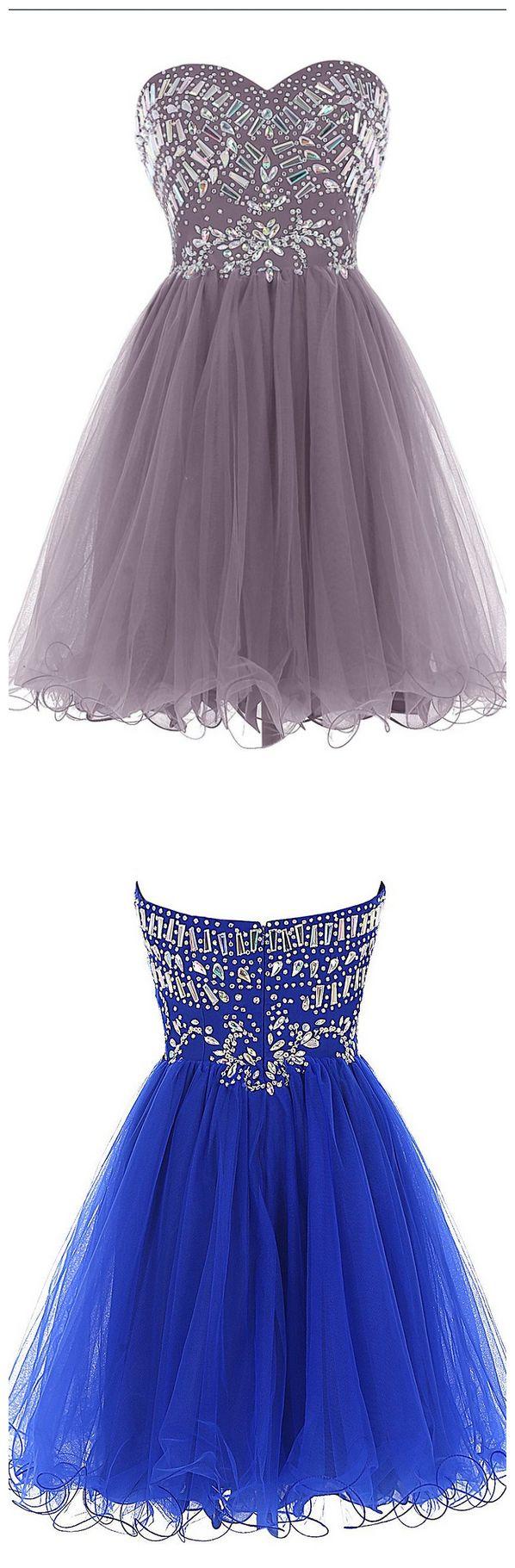 Short Beading Homecoming Dresses