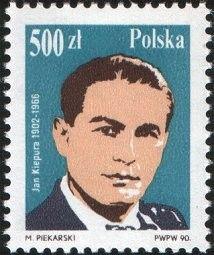 Znaczek: Jan Kiepura (1902-1966) (Polska) (Opera Singers) Mi:PL 3257,Sn:PL 2958,Yt:PL 3063,Pol:PL 3109
