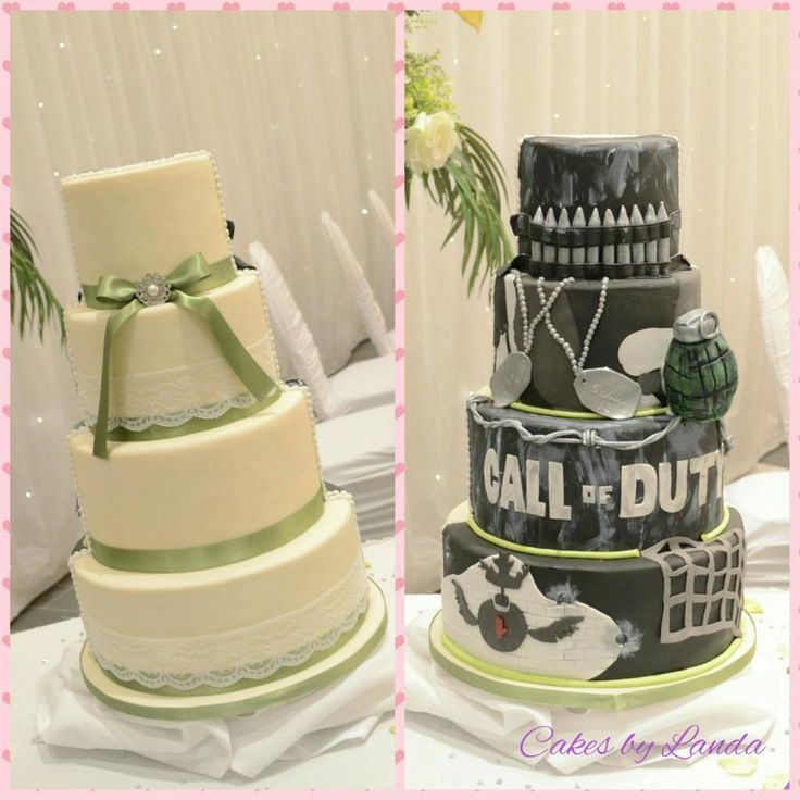 Pinterestteki 25den fazla en iyi Half and half wedding cakes
