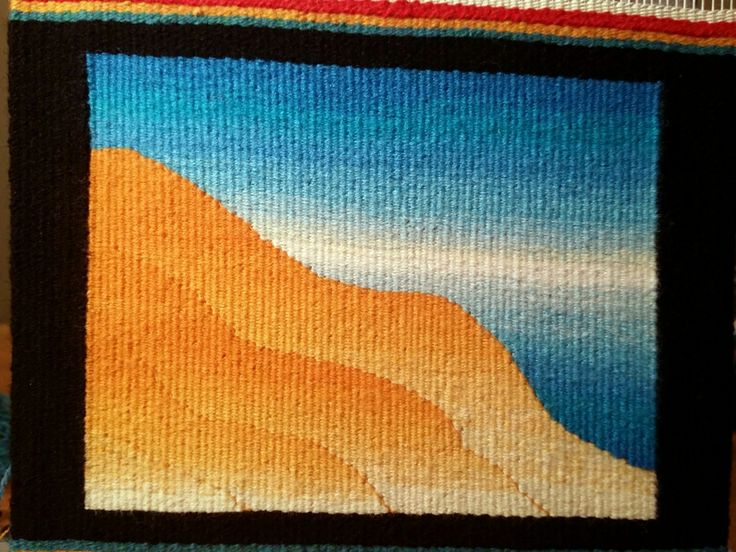Dawn Swajian,  Warp and Weft online tapestry weaving class with Rebecca Mezoff