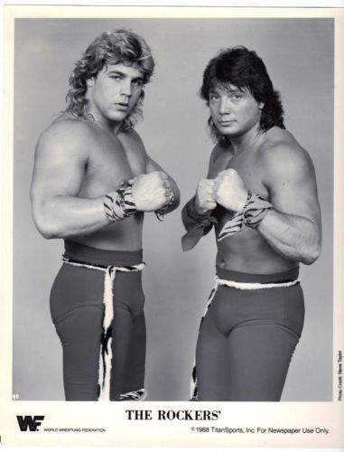 Vintage 1988 TitanSports THE ROCKERS 8x10 Promo Photo WWF Wrestling WWE WCW
