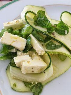 Salade de courgettes à la menthe et au piment