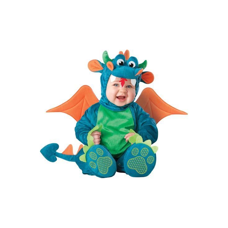 Halloween Boys' Dinky Dragon Costume 6-12 Months, Green