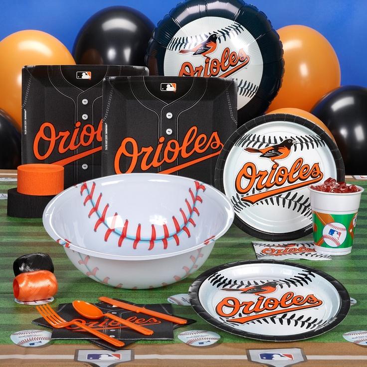 Baltimore Orioles Baseball Party Supplies, 77692
