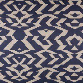 Tela Satén Azteca Azul