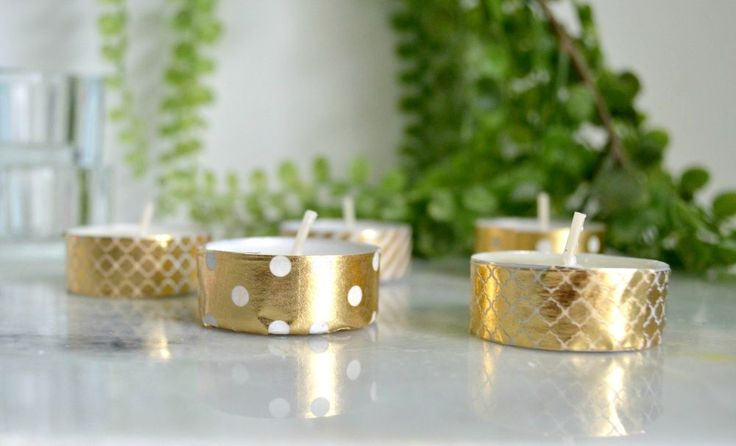 Washi Tape and Tealight Candles