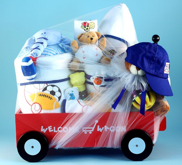Baby Boys Deluxe Lil Sport Welcome Wagon by Baby Gifts-N-Treasures.  #babygifts #babyboygifts #luxurybabygifts #babygiftsntreasures