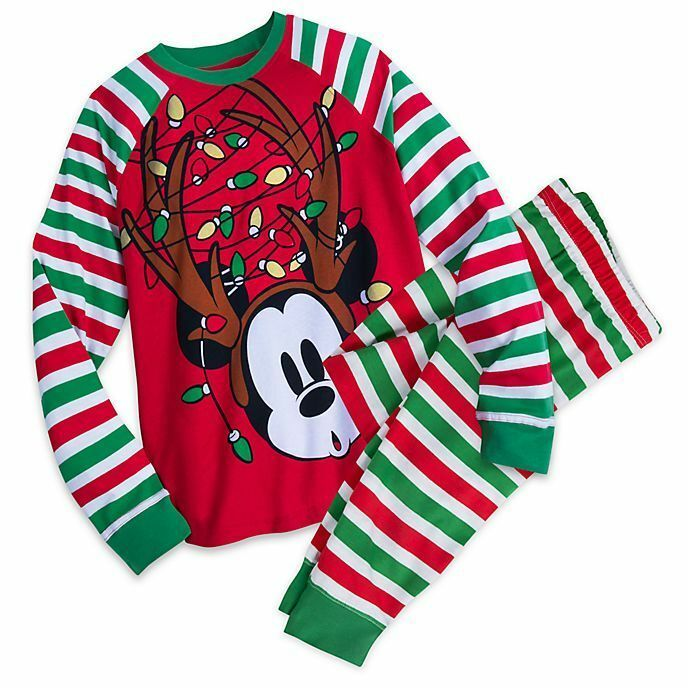Mickey Mouse Disney Store Baby Boys Cotton Holiday Christmas Pajama Set