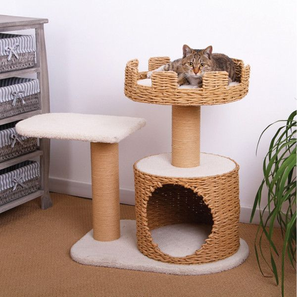 "$110, petsmart.com They already know they rule the roost, it's time your cat got a scratch post fit for royalty. Standing at 27"" high, this lamb fleece-covered cat tree is an attractive set-up with all of the coziness and scratching areas your cat needs, without being an overly cumbersome extra piece of furniture.  - BestProducts.com"