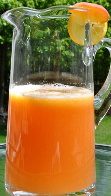 Grilled Georgia Peach Lemonade _ I was introduced to this delish summer drink on a trip to Atlanta for a conference. I just had to have it -- even way up north -- so I created this version!