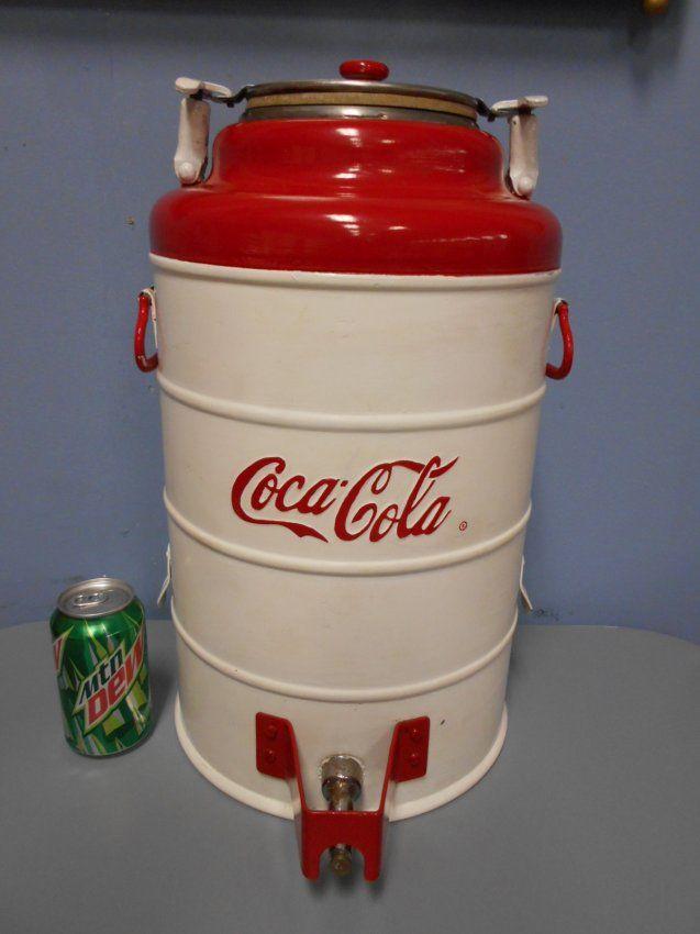 RARE Coca Cola cooler dispenser. One of a kind! : Lot 28