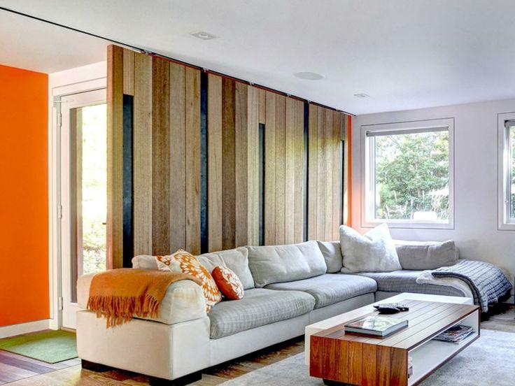 ide de design de salon moderne avec porte de grange - Model Dedecoration Desalon Moderne
