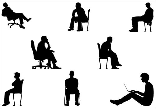 Man Sitting silhouette vector graphicsSilhouette Clip Art