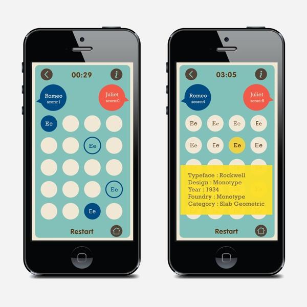 Typeface Memory Game by Edna Pei-Yu Lee, via Behance