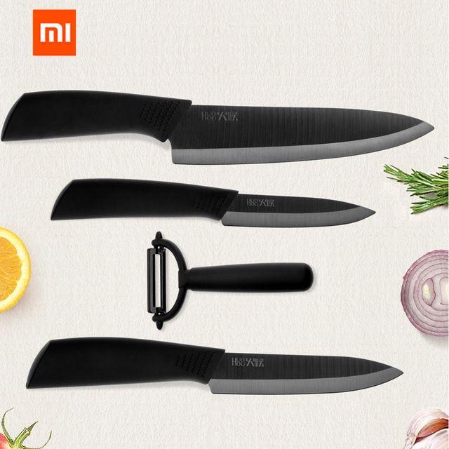 Moichef 8 Piece Premium Ceramic Knife Set 4 Color Kitchen Knives