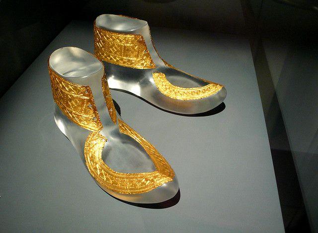 celts - hochdorf golden shoes ornaments by Xuan Che, via Flickr
