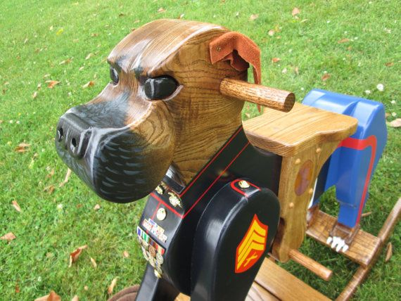 Wooden Boxer Rocker