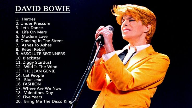 01H40.......Best Of David Bowie Playlist - David Bowie Top Songs Cover